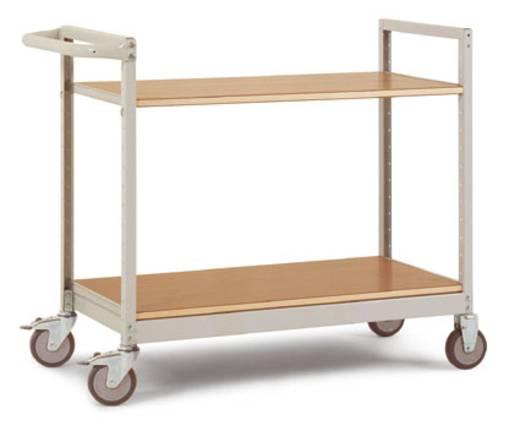Regalwagen Stahl pulverbeschichtet Traglast (max.): 250 kg Grau-Grün Manuflex TV1032.0001