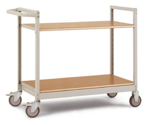 Regalwagen Stahl pulverbeschichtet Traglast (max.): 250 kg Resedagrün Manuflex TV1041.6011
