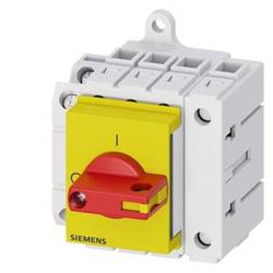 Odpínač červená, žltá 4-pólové 16 mm² 16 A 1 spínací, 1 rozpínací 690 V/AC Siemens 3LD30301TL13