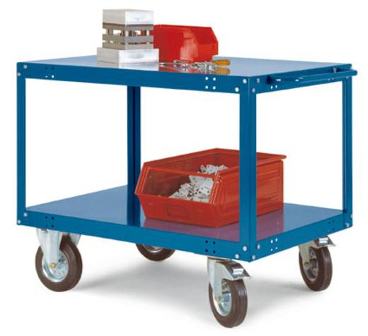Tischwagen Stahl pulverbeschichtet Traglast (max.): 200 kg Rot-Orange Manuflex TT1081.2001