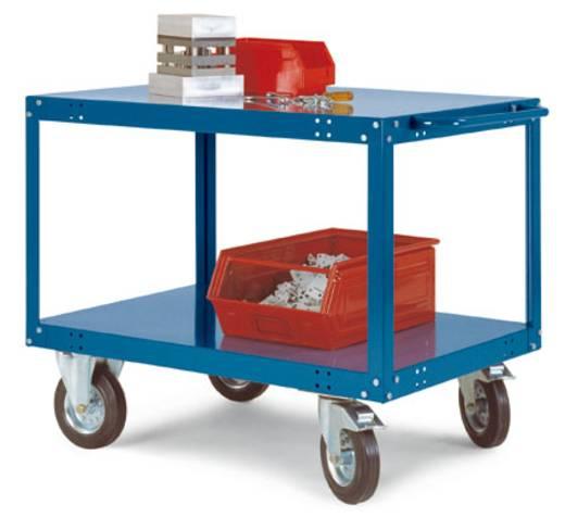 Tischwagen Stahl pulverbeschichtet Traglast (max.): 400 kg Weißaluminium Manuflex TT1072.9006