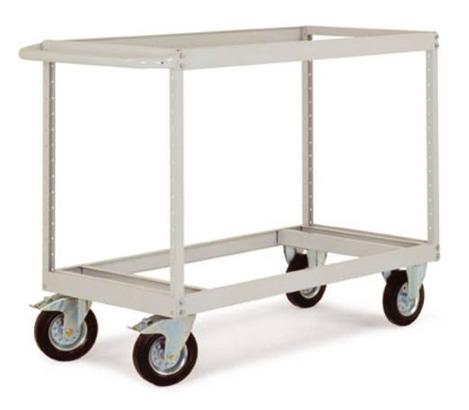 Regalwagen Stahl pulverbeschichtet Traglast (max.): 500 kg Alusilber Manuflex TV3414.9006