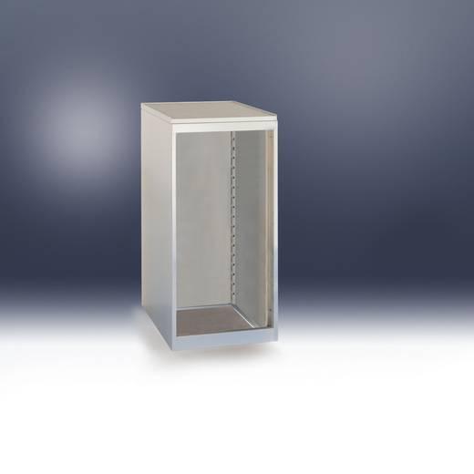 Schubfachschrank PROTEC stationär mit ZV und Einzelauszugssperre ohne Schubfächer 700 mm Ausstattungshöhe Maße: BxHxT=500x800x580 mm graugrün