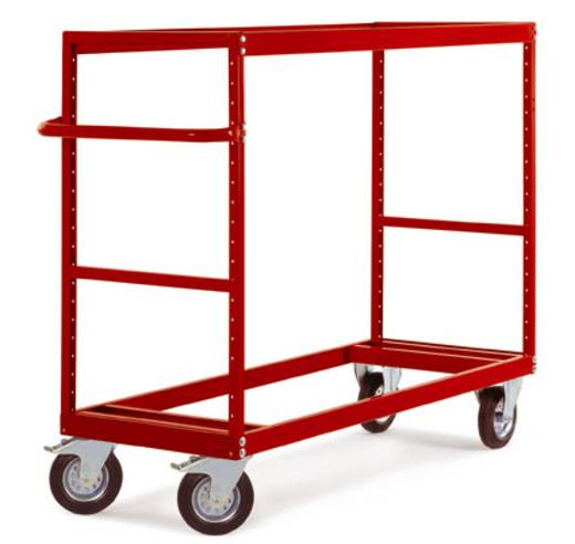 Regalwagen Stahl pulverbeschichtet Traglast (max.): 500 kg Grau-Grün Manuflex TV3440.0001