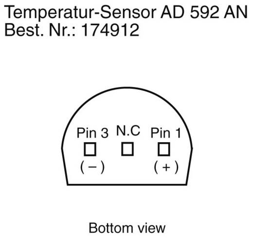 Messumformer-Modul Analog Devices AD 592 AN -25 bis +105 °C TO-92 radial bedrahtet