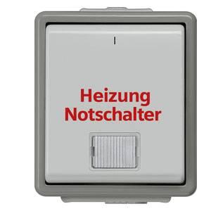 4 x Kopp 565356002 Aufputz Heizung Hauptschalter Feuchtraum Heizungsschalter