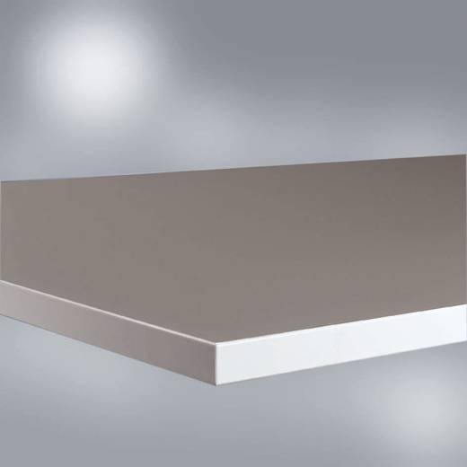 Manuflex LZ1766 Tischplatte 51 Kautschuk 1200x 600mm RA nach DIN 51953 10hoch5-10hoch7 Ohm leitfähig, platingrau 22mm (B