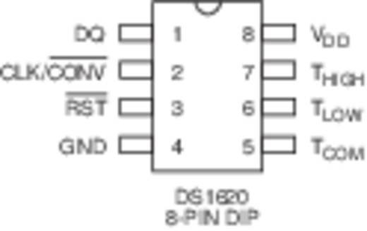Dallas DS1620 Temperatursensor -50 bis +125 °C DIP-8 THT