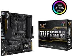 Základní deska Asus TUF B450M-Plus Gaming Socket AMD AM4 Tvarový faktor Micro-ATX Čipová sada základní desky AMD® B450