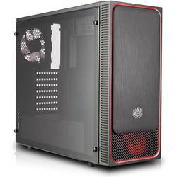 PC skrinka midi tower Cooler Master Masterbox E500L Win, čierna, červená