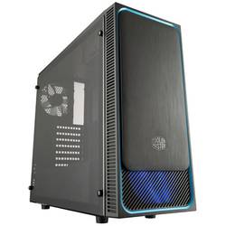 PC skrinka midi tower Cooler Master Masterbox E500L Win, čierna, modrá