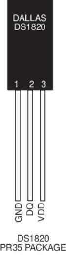 Maxim Integrated DS18S20 Temperatursensor -55 bis +125 °C TO-92 radial bedrahtet