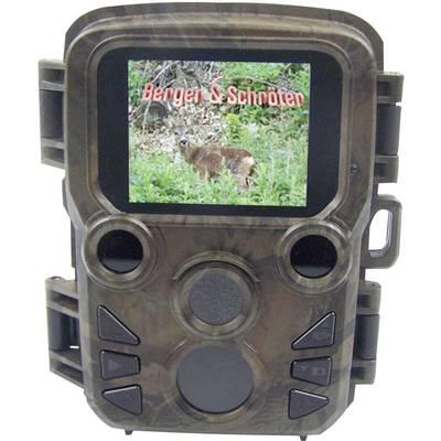 Berger & Schröter Mini Wildkamera 16 Mio. Pixel Black LEDs, Low-Glow-LEDs, Zeitrafferfunktion Camouflage