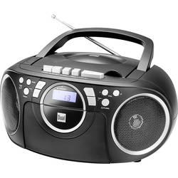 FM rádio s CD prehrávačom Dual P 70, AUX, CD, kazeta, UKW, čierna