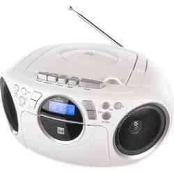 FM rádio s CD prehrávačom Dual P 70, AUX, CD, kazeta, UKW, biela