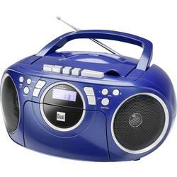 FM rádio s CD prehrávačom Dual P 70, AUX, CD, kazeta, UKW, modrá