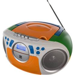FM rádio s CD prehrávačom Dual P 70, AUX, CD, kazeta, UKW, farebná