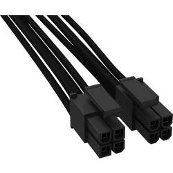 Image of BeQuiet Computer, Strom Kabel [1x ATX-Stecker 8pol. (4+4) - 1x ATX-Stecker 8pol. (4+4)] 45.00 cm Schwarz