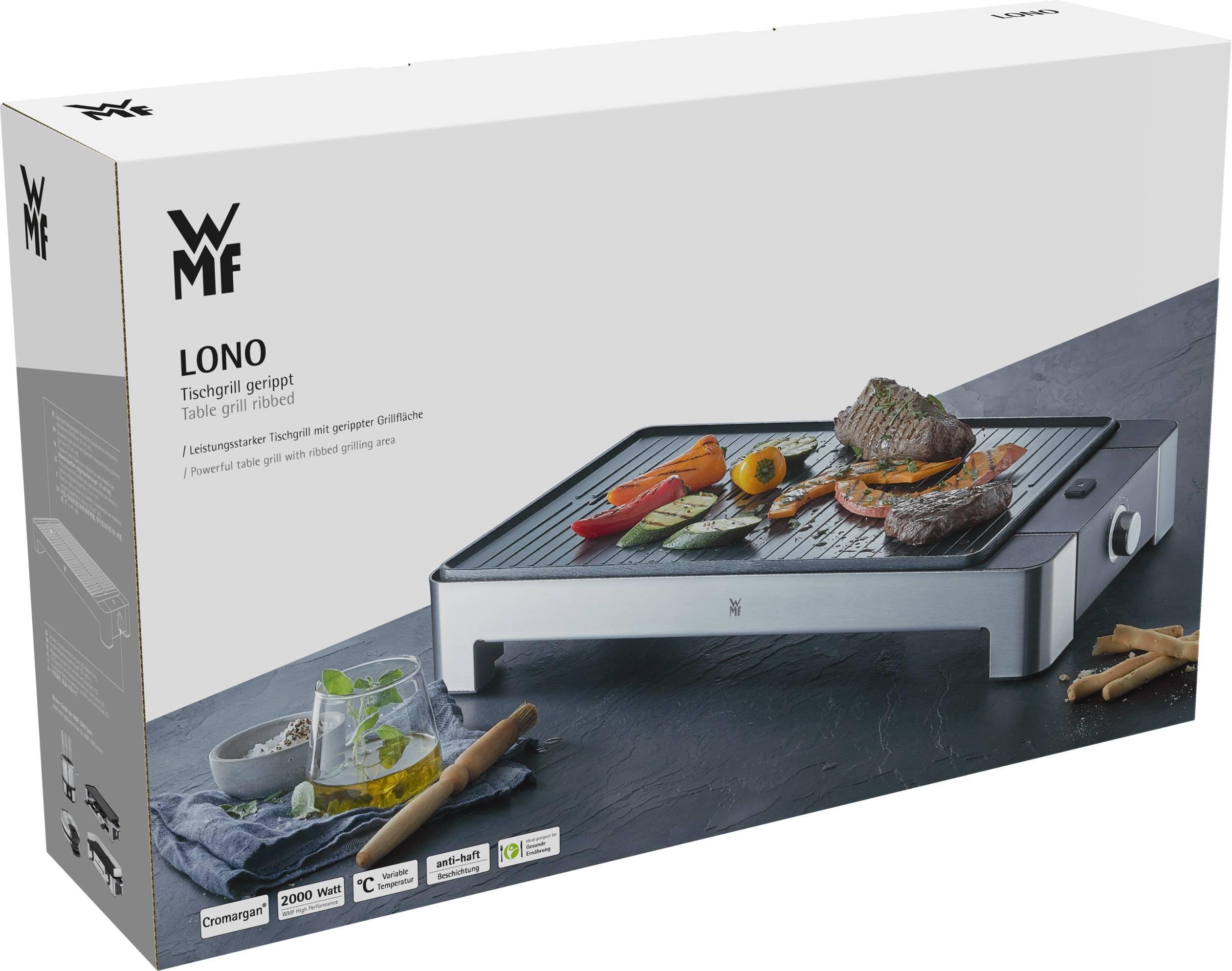 Wmf Cromargan Elektrogrill : Wmf lono master grill elektrogrill tischgrill edelstahl cromargan
