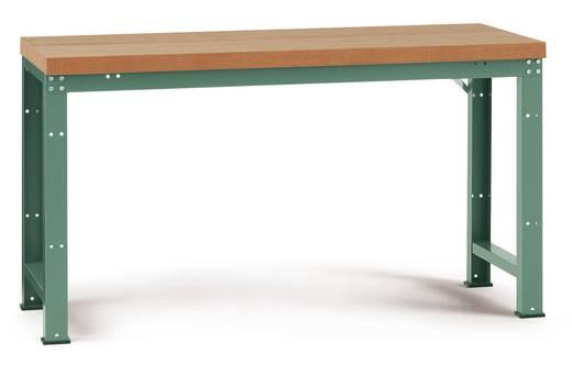 Manuflex WP3004.0001 Grund-Werkbank PROFI,1250x700 mm Pl. Multiplex 40mm KRIEG Hausfarbe graugrün (B x H x T) 1250 x 840