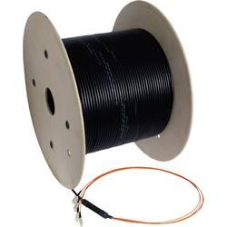 Optické vlákno LWL, sklenené vlákno prepojovací kábel EFB Elektronik o8303.75OM3 [4x zástrčka LC - 4x zástrčka LC], 75.00 m, čierna