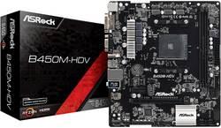 Základní deska ASRock B450M-HDV Socket AMD AM4 Tvarový faktor Micro-ATX Čipová sada základní desky AMD® B450