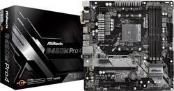 Základní deska ASRock B450M-Pro4 Socket AMD AM4 Tvarový faktor ATX Čipová sada základní desky AMD® B450