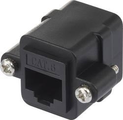 RJ45 síťový adaptér Renkforce RF-3526610 CAT 6, [1x RJ45 zásuvka - 1x RJ45 zásuvka], černá