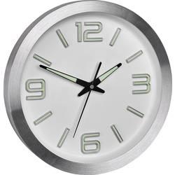 DCF nástenné hodiny TFA Dostmann 60.3526.02 60.3526.02, vonkajší Ø 300 mm, hliník