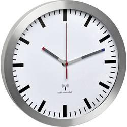 DCF nástenné hodiny TFA Dostmann Funk-Wanduhr 60.3528.02, vonkajší Ø 300 mm, hliník