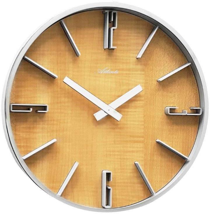 442630 Quarz Uhren Wanduhr Atlanta Kaufen 60 300 Silber Mm X Rq354AjL