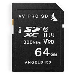 Paměťová karta SDXC, 64 GB, Angelbird V90 AVP064SD, Class 10, UHS-II, UHS-Class 3, v90 Video Speed Class