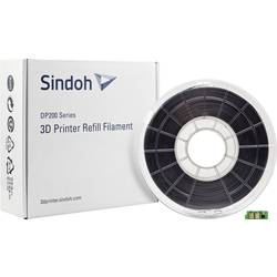 Vlákno pre 3D tlačiarne, Sindoh 3DP200PBK-R, PLA plast , 1.75 mm, 700 g, čierna