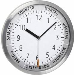 Quartz nástenné hodiny TFA Dostmann 60.3044.02 60.3044.02, vonkajší Ø 303 mm, hliník