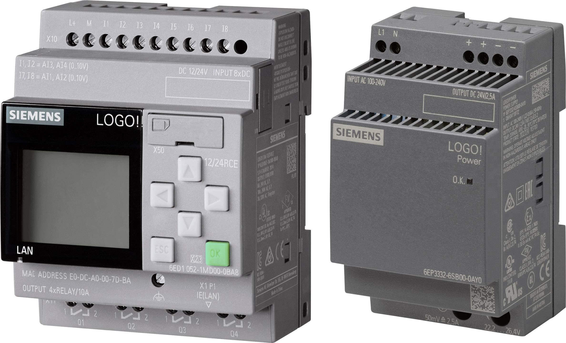 Siemens 6ED1052-1MD08-0BA0 SPS-Steuerungsmodul 12 V//DC 24 V//DC