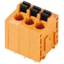 Pružinová svorka Weidmüller LMF 5.00/16/180 3.5SN OR BX 1330330000, 2.5 mm², Pólov 16, oranžová, 15 ks