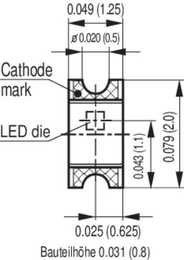 SMD-LED 0805 Hyper-Rot 20 mcd 160 ° 20 mA 1.8 V OSRAM LH R974