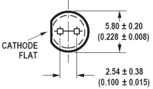 LED bedrahtet Amber Rund 5 mm 9300 mcd 15 ° 20 mA 2.1 V Broadcom HLMP-EL1G-Y10DD