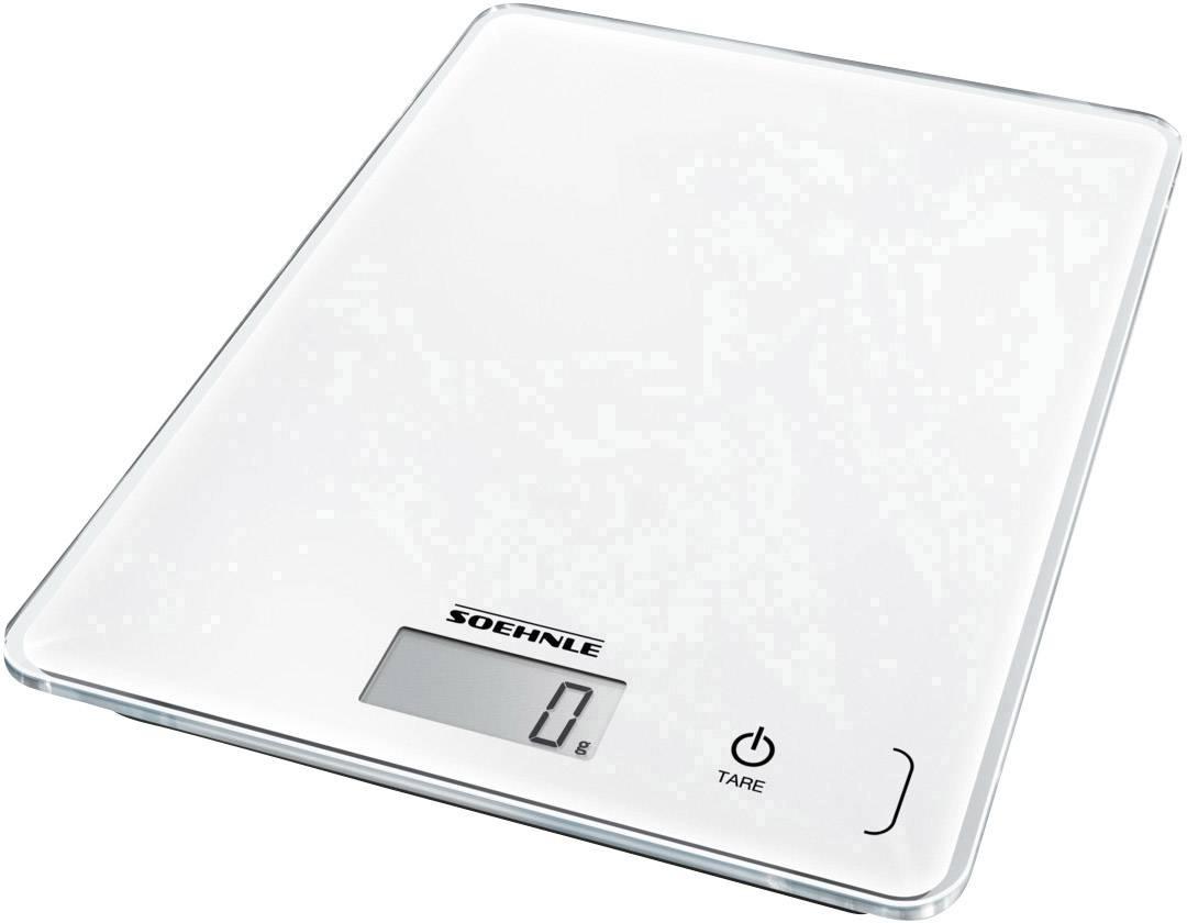 Weiß Küchenwaage SOEHNLE KWD Page Compact 300 5 kg