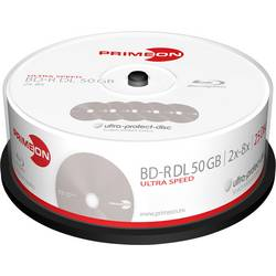 Image of Primeon 2761318 Blu-ray BD-R DL Rohling 50 GB 25 St. Spindel Antikratzbeschichtung