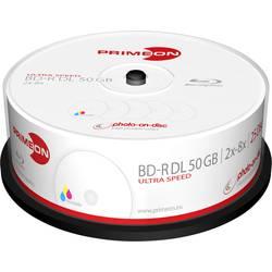 Image of Primeon 2761319 Blu-ray BD-R DL Rohling 50 GB 25 St. Spindel Bedruckbar