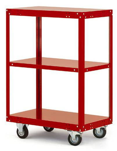Regalwagen Stahl pulverbeschichtet Traglast (max.): 200 kg Licht-Grau Manuflex TT4081.7035
