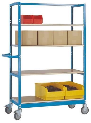 Regalwagen Stahl pulverbeschichtet Traglast (max.): 250 kg Wasserblau Manuflex TV1060.5021