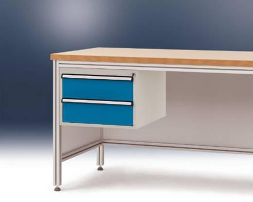 Manuflex ZB4522.0002 Komplett-Gehäuse 300 für ALU-Tisch, 800mm tief HF0002 Korpus: RAL7035 lichtgrau Schubfächer: RAL5007 lichtblau (B x H x T) 500 x 360 x 580 mm