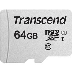 Pamäťová karta micro SDXC, 64 GB, Transcend Premium 300S, Class 10, UHS-I, UHS-Class 1, vr. SD adaptéru