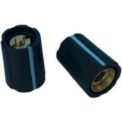 Otočný gombík PSP S100-400-1, (Ø x v) 10 mm x 13.5 mm, čierna, 1 ks