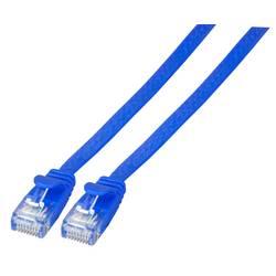 Sieťový prepojovací kábel RJ45 EFB Elektronik K8107BL.5, CAT 6A, U/UTP, 5.00 m, modrá