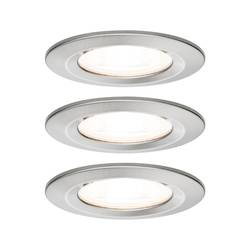 Image of Paulmann Nova Bad-Einbauleuchte 3er Set LED GU10 19.5 W IP44