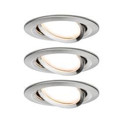 Vstavané svietidlo - LED Paulmann Nova 93483 LED, 19.5 W, sada 3 ks, železo (kartáčovamé)