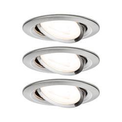 Vstavané svietidlo - LED Paulmann Nova 93429 GU10, 19.5 W, sada 3 ks, nerezová oceľ kartáčovaná